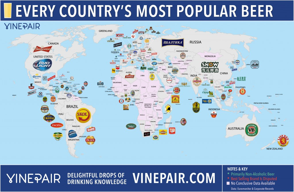 самое популярное пиво в мире