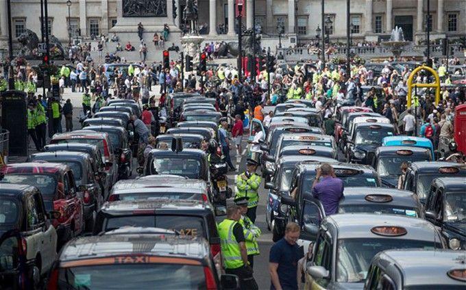 такси лондона протест
