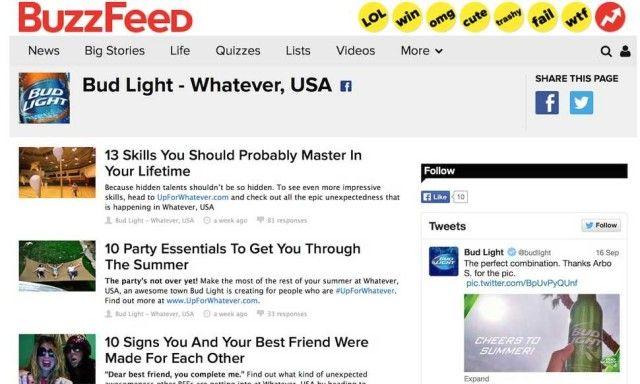 BuzzFeed bud light