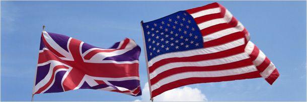 Флаг США и Великобритании