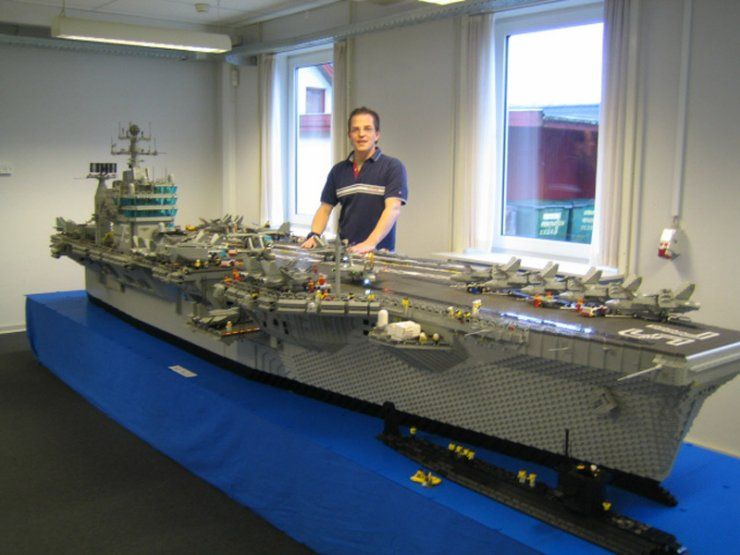 Gigantic Aircraft Carrier model