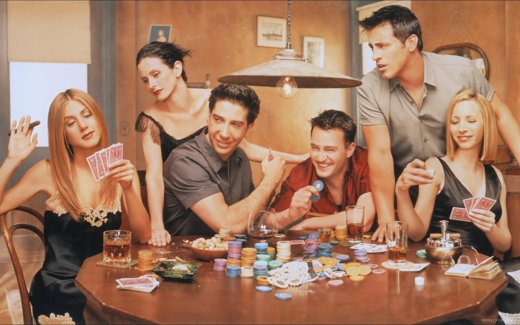 друзья играют в покер