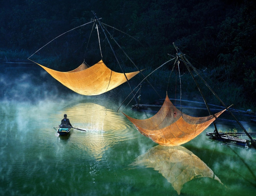 вьетнам рыбак сети