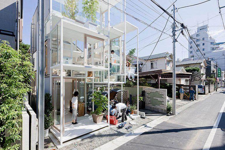 прозрачный дом токио
