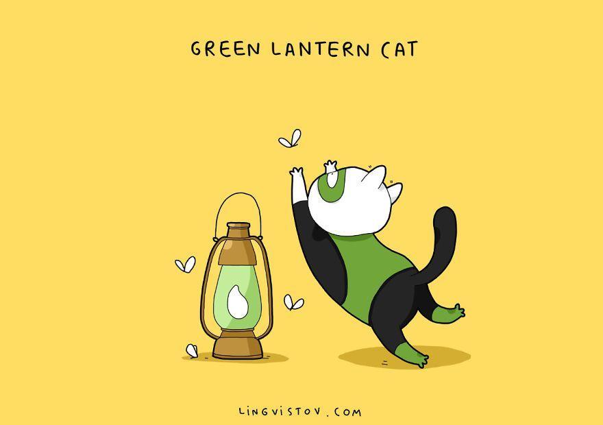 Green Lantern Cat