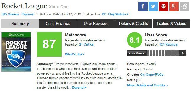 metacritic.com/game скриншот