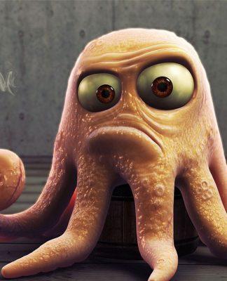 осьминог мультфильм