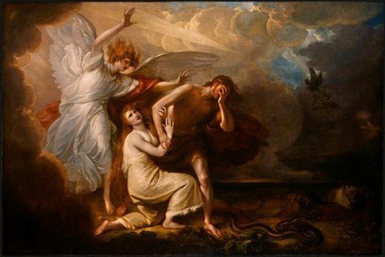 """""""Изгнание Адама и Евы из рая"""". Бенджамин Уэст"""