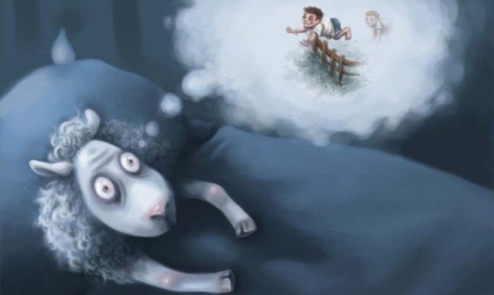 овечка считает людей